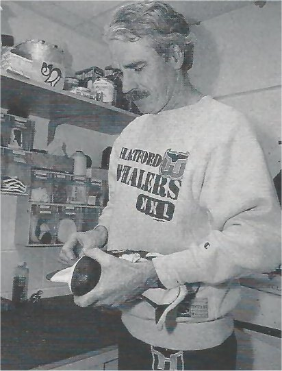 Whalers equipment manager Skip Cunningham